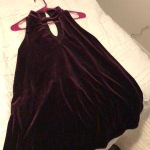 Dark Purple Flowy Velvet Dress